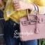 กระเป๋าสะพายแฟชั่น กระเป๋าสะพายข้างผู้หญิง Birkin PU 25 cm [สีชมพู] thumbnail 2
