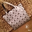 กระเป๋าทรงช็อปปิ้ง กระเป๋าสะพายข้างผู้หญิง หูหิ้วปรับได้2ระดับ Issey Miyake Bao Bao [สีเงิน ]