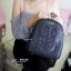 กระเป๋าเป้ผู้หญิง กระเป๋าสะพายหลังแฟชั่น แบรนด์ Beibaobao แต่งกากเพชร [สีดำ ]