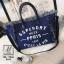 พร้อมส่ง กระเป๋าแฟชั่นนำเข้าทรง shopping bag สุดเก๋ส์ [สีน้ำเงิน] thumbnail 1