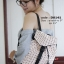 กระเป๋าเป้ผู้หญิง กระเป๋าสะพายหลังแฟชั่น Style ISSEY MIYAKE BAO BAO [สีชมพู ] thumbnail 3