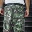 Light Green Camo Cargo Shorts for Men - size 34 thumbnail 3