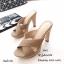รองเท้าแตะส้นสูงแบบสวมไขว้ 3006-5-กากี (สีกากี) thumbnail 3