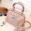 กระเป๋าถือผู้หญิง กระเป๋าสะพายข้างผู้หญิง หนังนิ่มงานพรีเมี่ยมเดินด้ายลายตาราง Style Chanel งานTop Mirror [สีกากี ]