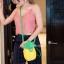 กระเป๋าสะพายแฟชั่น กระเป๋าสะพายข้างผู้หญิง pineapple bag [สีเหลือง] thumbnail 1