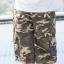 Brown Camo Cargo Shorts for Men - size 34 thumbnail 4