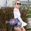 กระเป๋าสะพายแฟชั่น กระเป๋าสะพายข้างผู้หญิง วินเทจ(สะพายข้างลายปัก) [สีดำ]