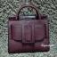 กระเป๋าสะพายแฟชั่น กระเป๋าสะพายข้างผู้หญิง Boyy bag (PU) [สีแดง] thumbnail 4