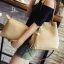 กระเป๋าสะพายแฟชั่น กระเป๋าสะพายข้างผู้หญิง ประกอบด้วยกระเป๋า2ใบ ประดับพวงกุญแจพู่น่ารัก [สีกากี ] thumbnail 1