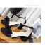 รองเท้าส้นเหลี่ยมรัดข้อ A-222-ดำ (สีดำ) thumbnail 2