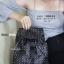 กระเป๋าเป้ผู้หญิง กระเป๋าสะพายหลังแฟชั่น Style ISSEY MIYAKE BAO BAO [สีดำ/ขาว ] thumbnail 4
