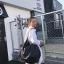 กระเป๋าสะพายแฟชั่น กระเป๋าสะพายข้างผู้หญิง กระเป๋าสะพายโซ่ หนัง [สีดำ]