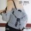 กระเป๋าเป้ผู้หญิง กระเป๋าสะพายหลังแฟชั่น Style ISSEY MIYAKE BAO BAO [สีเทา ] thumbnail 1