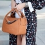 กระเป๋าถือผู้หญิง กระเป๋าสะพายข้างแฟชั่น งานตัดเย็บ เนี๊ยบกริบ Lindy PU [สีส้ม ] thumbnail 1