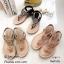 รองเท้าแตะพื้นนิ่มรัดส้นสีดำ B1817-1-ดำ thumbnail 5