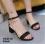รองเท้าส้นตันรัดส้น เพิ่มสายรัดข้อเท้า [สีดำ ] thumbnail 1