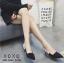 พร้อมส่ง รองเท้าส้นสูงหัวแหลมสีดำ ทรงเก็บหน้าเท้า สายคาดส้นแบบริบบิ้น แฟชั่นเกาหลี [สีดำ ] thumbnail 1