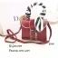 กระเป๋าสะพายแฟชั่น กระเป๋าสะพายข้างผู้หญิง แต่งหัวเข็มขัด ผ้าพันหูจับ [สีแดง ]