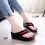 รองเท้าแตะเพื่อสุขภาพ หูหนีบ หน้าเท้าว้างใส่สบาย [สีดำ ] thumbnail 1