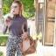 กระเป๋าสะพายแฟชั่น กระเป๋าสะพายข้างผู้หญิง Celine หนังล้วน/หนังกลับ [สีดำ]