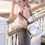 กระเป๋าสะพายแฟชั่น กระเป๋าสะพายข้างผู้หญิง pyramid [สีขาว] thumbnail 1