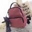 กระเป๋าเป้ผู้หญิง กระเปาสะพายหลังแฟชั่น วัสดุผ้าร่มเกรดพรีเมี่ยม หูจับเป็นหนัง [สีชมพู ] thumbnail 1