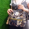 กระเป๋าเป้ผู้หญิง กระเป๋าสะพายหลังแฟชั่น Anello ลายทหาร [สีเขียว ]