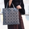 กระเป๋าทรงช็อปปิ้ง กระเป๋าสะพายข้างผู้หญิง ISSEY MIYAKE BAO BAO 6x6 (no logo) [สีเทา ]