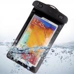 ซองมือถือกันน้ำ 100% พร้อมสายรัด ไอโฟน/ซัมซุง (สีดำ)