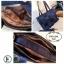 กระเป๋าสะพายแฟชั่น กระเปาสะพายข้างผู้หญิง วัสดุเชือกนิ่มสานลายตาราง Style Prada งานTop Mirror [สีทอง ] thumbnail 2