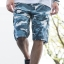 White and Blue Camo Cargo Shorts for Men - size 38 thumbnail 1
