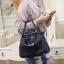 กระเป๋าสะพายแฟชั่น กระเป๋าสะพายข้างผู้หญิง Lindy 28 หนังแท้ ใช้ทั้งคล้องแขน สะพายไหล่ [สีดำ ] thumbnail 1