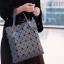 กระเป๋าทรงช็อปปิ้ง กระเป๋าสะพายข้างผู้หญิง ISSEY MIYAKE BAO BAO 6x6 (no logo) [สีเทา ] thumbnail 2