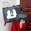กระเป๋าผ้า กระเป๋าทรงช็อปปิง ลายมิกกี้ แถมกระเป๋าใบเล็ก [สีดำ ] thumbnail 3