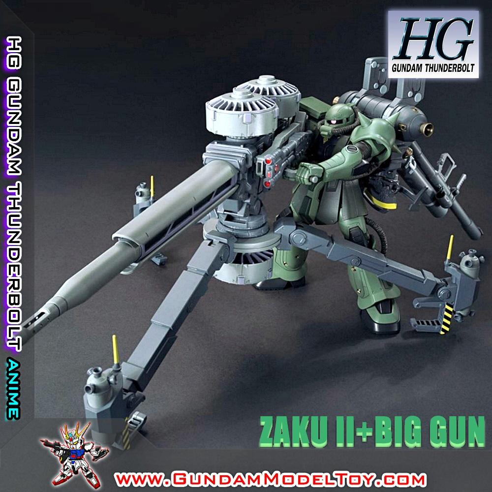 HG 1/144 ZAKU II MASS PRODUCTION+BIG GUN SET ANIME VER. ซาคุ 2 + ปืนใหญ่ อะนิเมะ เวอร์ชั่น