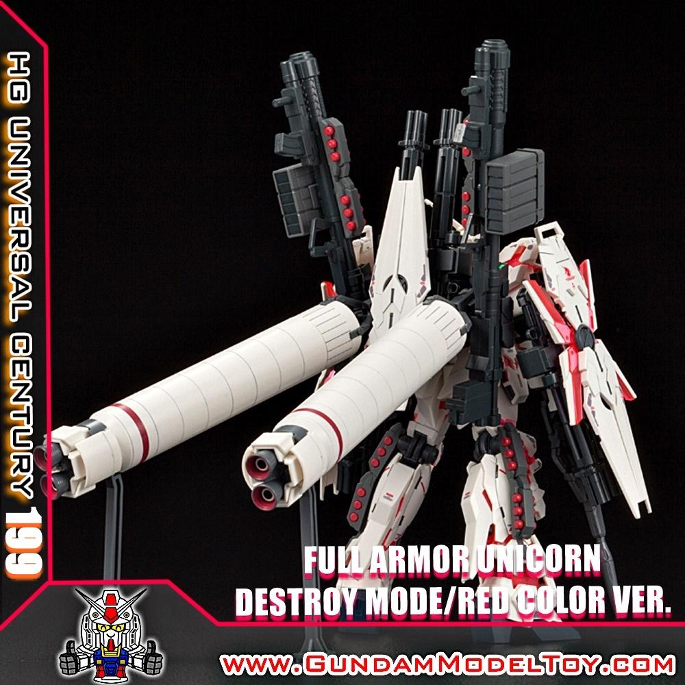 HGUC 1/144 FULL ARMOR UNICORN GUNDAM [DESTROY MODE/RED COLOR Ver.] ฟูล อาร์มอร์ ยูนิคอร์น กันดั้ม เดสทรอยโหมด เวอร์ชั่น สีแดง