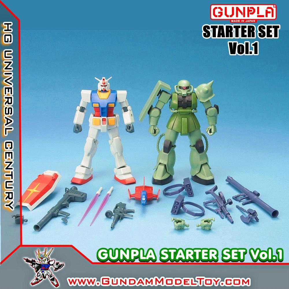 HG 1/144 GUNPLA STARTER SET VOL.1 กันดั้ม RX-78-2 + ZAKU II