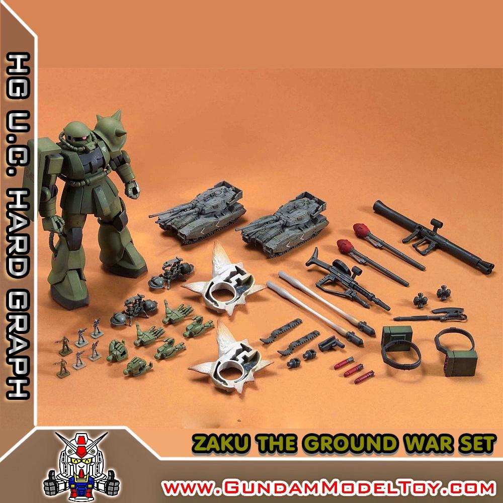HG 1/144 ZAKU THE GROUND WAR SET ซาคุ เดอะ กราวน์ วอร์ เซ็ท
