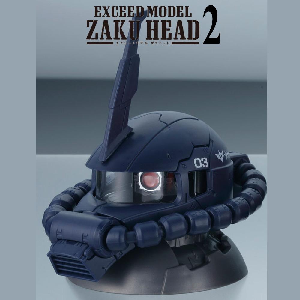 GACHAPON EXCEED MODEL ZAKU HEAD 2 กาชาปองซาคุ 2 สีน้ำเงิน