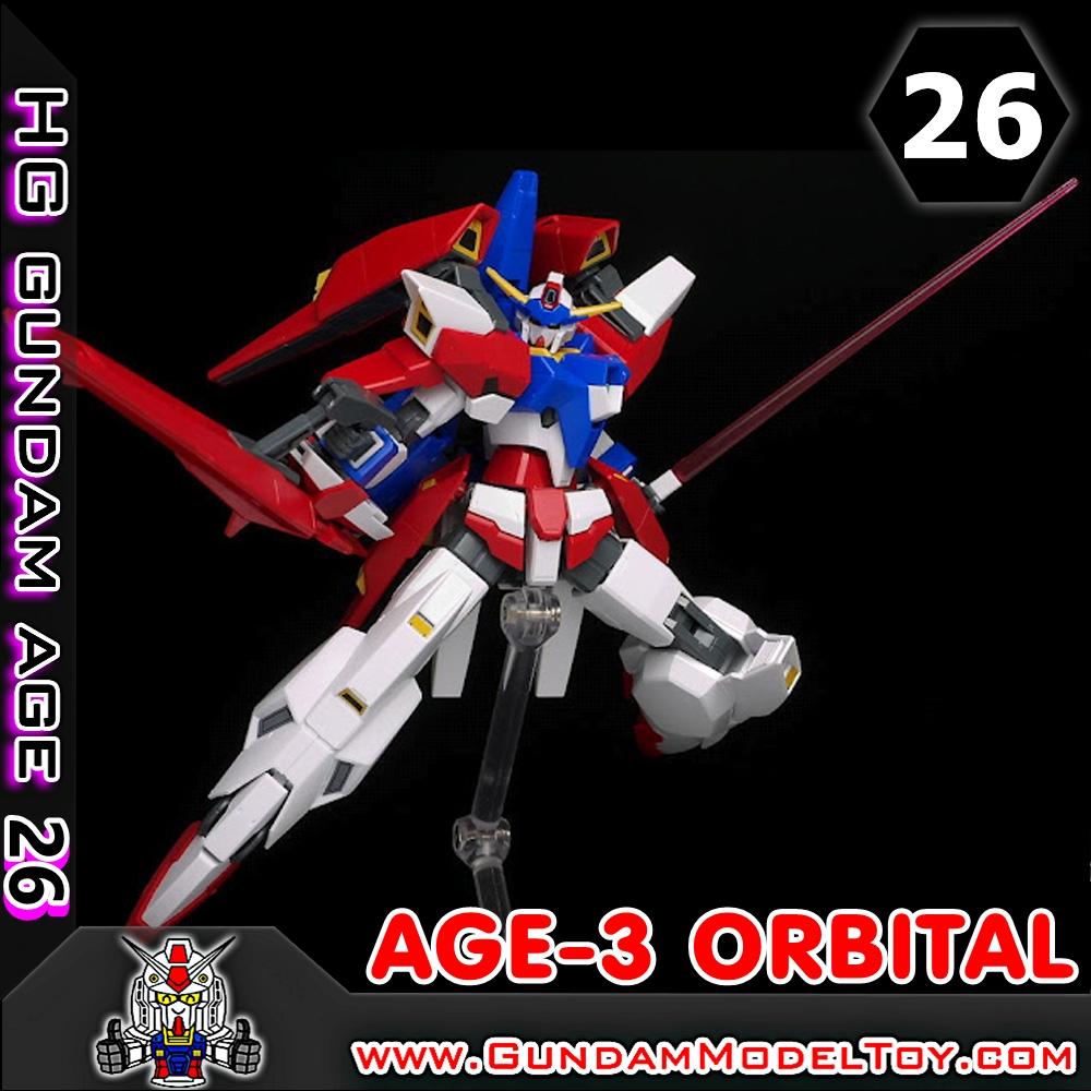HGAGE 1/144 GUNDAM AGE-3 ORBITAL กันดั้ม เอจ 3 ออร์บิทัล