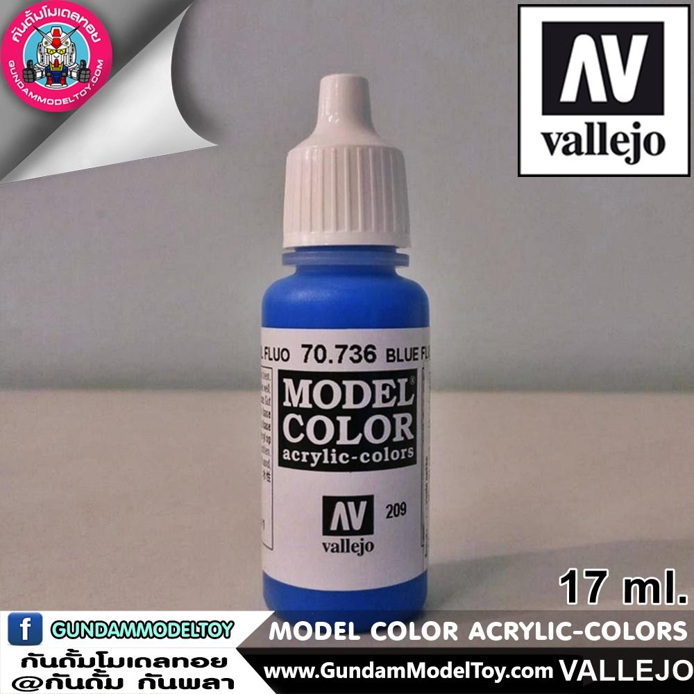 VALLEJO MODEL COLOR BLUE FLUORESCENE 70.736