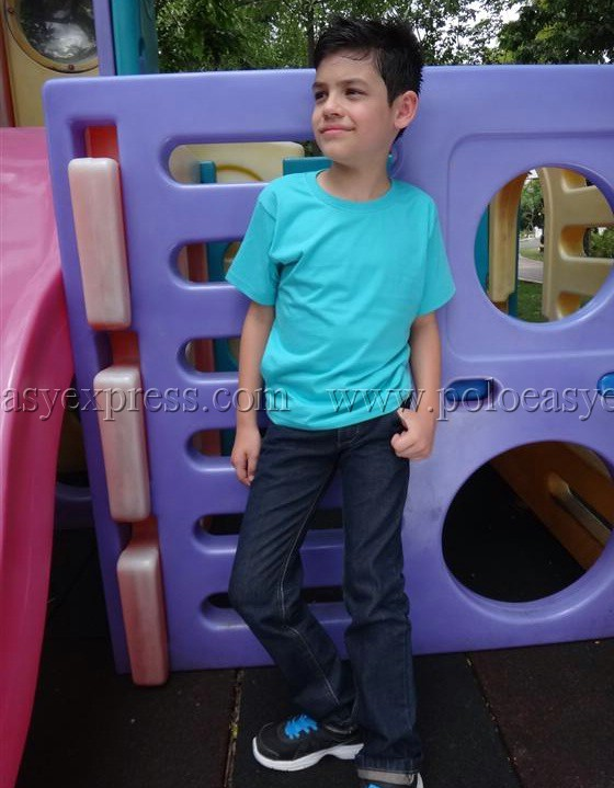 เสื้อยืดเด็ก สีเขียวมิ้นต์ คอกลม แขนสั้น Size 2XL สำเนา