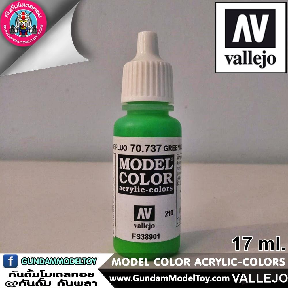 VALLEJO MODEL COLOR GREEN FLUORESCENE 70.737