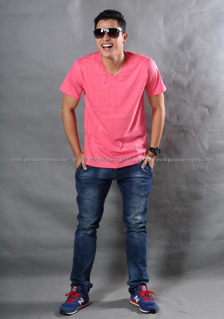 3XL เสื้อยืด สีชมพู Sweety คอวี แขนสั้น Size 3XL สำเนา