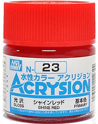 ACRYSION N23 GLOSS SHINE RED สีแดงสว่างเงา