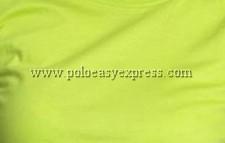 เสื้อยืดเด็ก สีเขียวมะนาว คอวี แขนสั้น Size XL