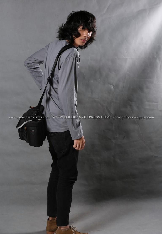 เสื้อยืด สีเทาอ่อน คอกลม แขนยาว Size 4XL