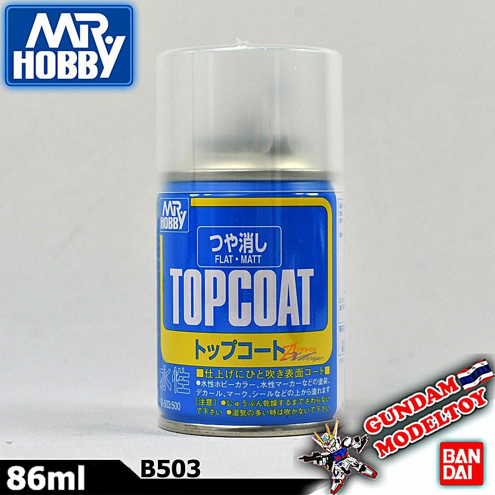 เคลียร์ด้าน MR.HOBBY TOP COAT FLAT MATT SPRAY สีสเปรย์เคลียร์ด้าน มิสเตอร์ฮอบบี้