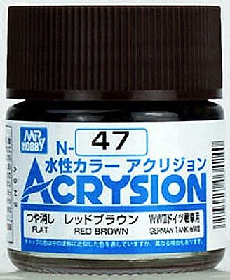 ACRYSION N47 FLAT RED BROWN สีแดงน้ำตาลด้าน