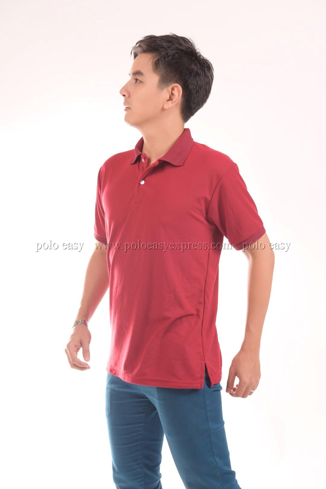 เสื้อโปโล สีเลือดหมู TK Premium แขนสั้น ทรงตรง Size 2XL